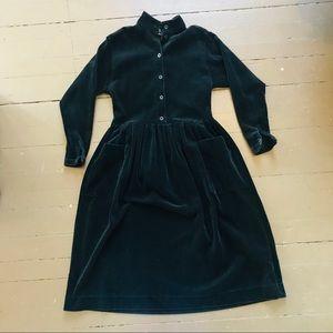 Vintage 90s Laura Ashley black corduroy maxi dress